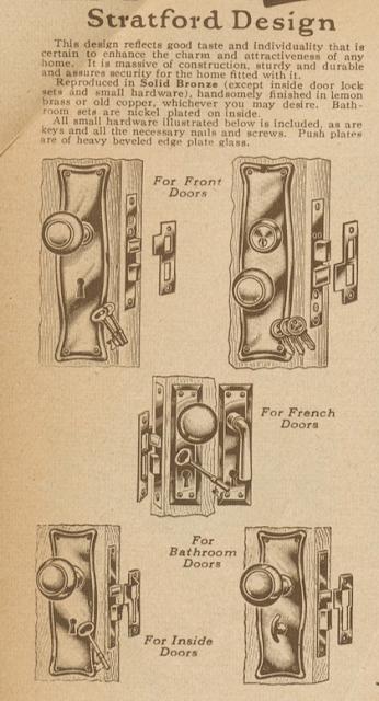 Sears Stratford design door hardware