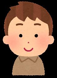 茶色い髪の男の子のイラスト