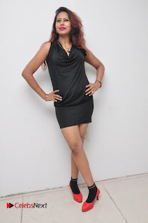 Model Sonia Pictures in Black Dress at Yes Mart Event  0040
