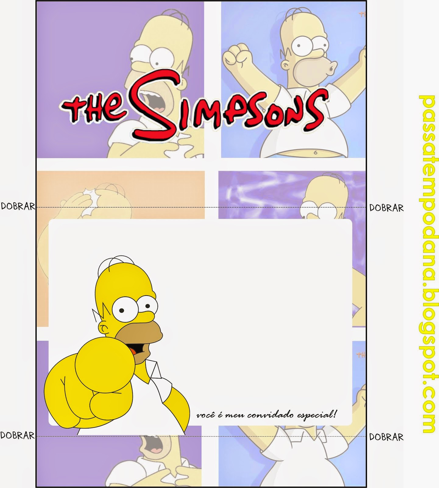 The Simpsons Free Printable Invitations Toppers And