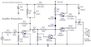 Power Amplifier 4 Transistor