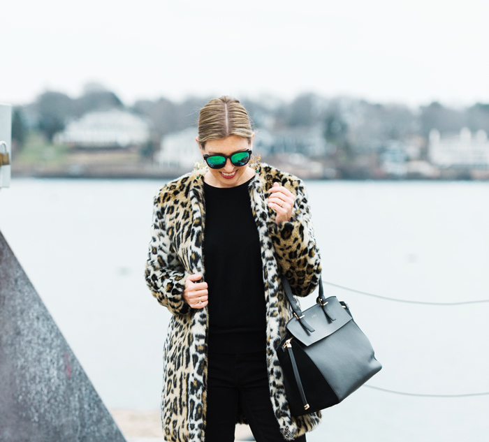 Cupcakes and Cashmere leopard coat elvina