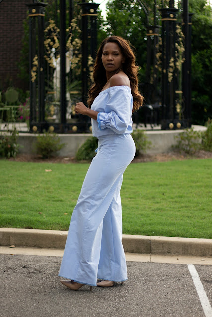 Off The Shoulder Jumpsuit  + Tutorial