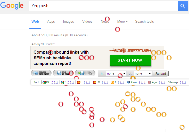 Play Google Zerg Rush Game Zerg Rush Easter Egg Tricks