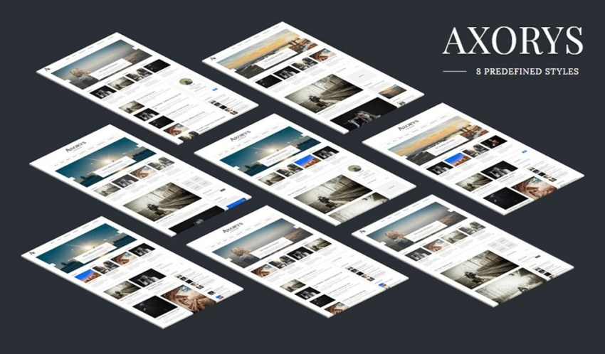 axorys blogger template with 8 different style