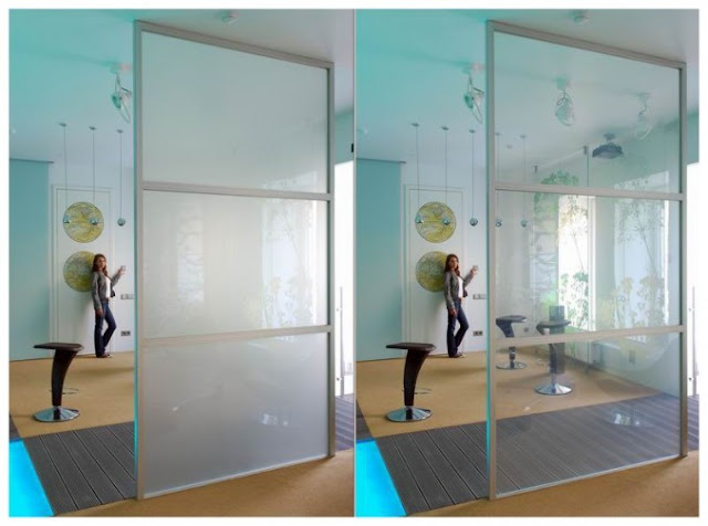 Crystal Glass Kitchen Cabinet