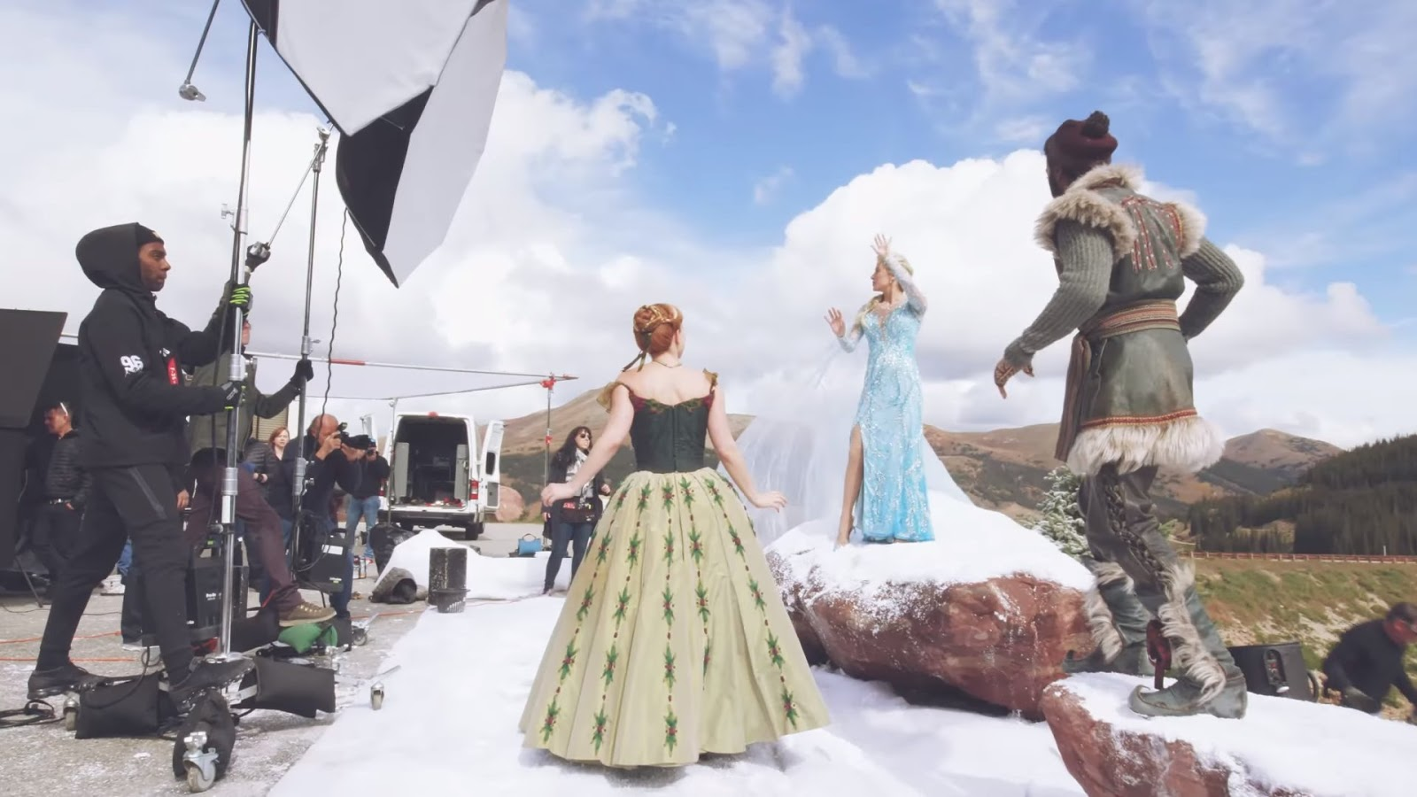 Go Behind the Scenes of the 'Frozen' Broadway Cast's First Photo Shoot