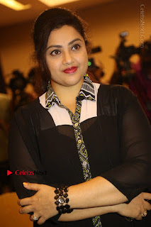 Tamil Actress Meena Latest Stills in Black Dress at TSR TV9 Awards Press Meet  0068.JPG