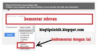 cara menanam backlink pada komentar blogspot