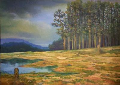 óleo-paisaje-crepúsculo