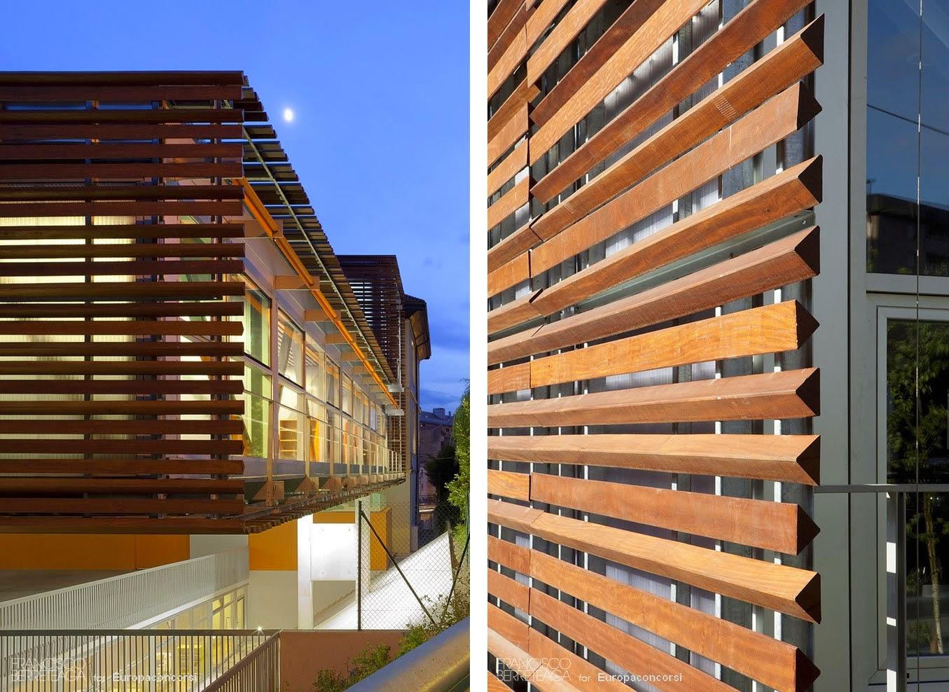 Arquitectura dise o interior persianas de madera en el - Imitacion madera para fachadas ...