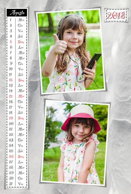 Calendario mensile 30x45