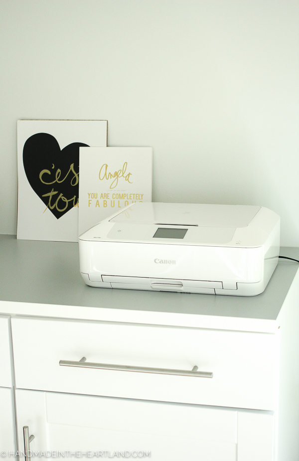 easily print photos from your phone at home on the canon pixma printer