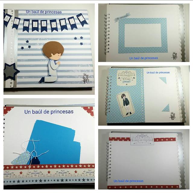Detalles libro de firmas de comunión para niño
