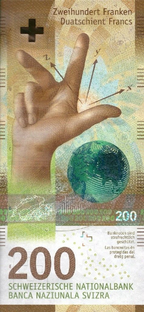Switzerland Currency 200 Swiss Francs banknote 2018