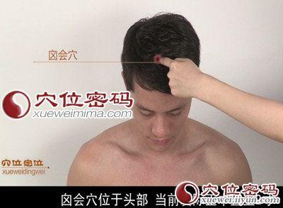 囟會穴位 | 囟會穴痛位置 - 穴道按摩經絡圖解 | Source:xueweitu.iiyun.com