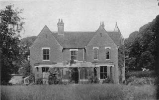 Morgan's Milieu | Happy Halloween: Borley Rectory surrounded by trees, black and white photograph.