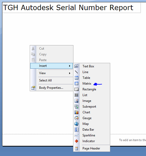 Create SSRS Report Layout