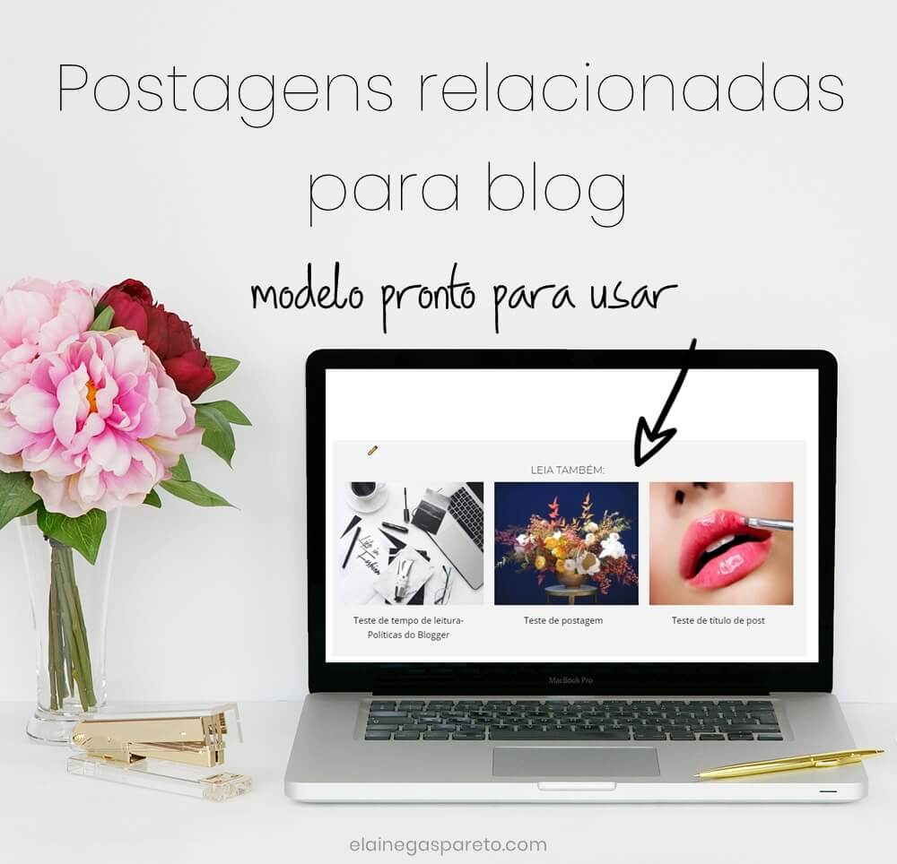 Postagens relacionadas para blog- modelo pronto para usar