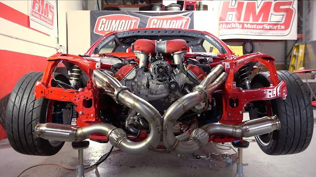 Ferrari V8 458 Engine is swapped into a Toyota!