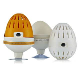 White and orange ecoegg with stand