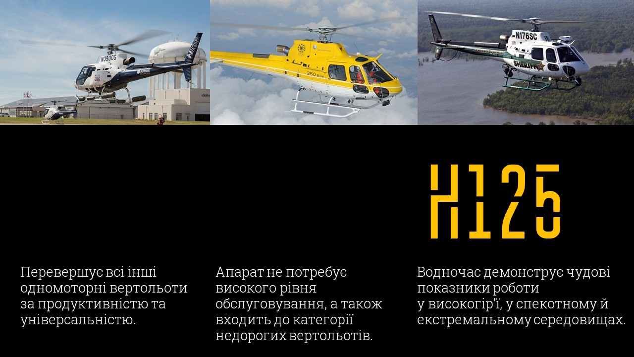 гелікоптери Airbus Helicopters H125