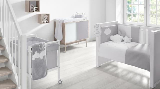 Habitación infantil en gris
