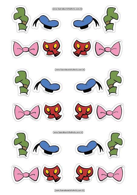 Mickey and Friends Free Printable Stickers Oh My Fiesta! in english