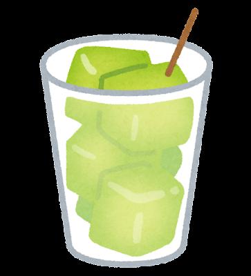 カップに入ったメロンのイラスト(緑)