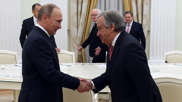 Putin recibe al futuro secretario general de la ONU, Antonio Guterres