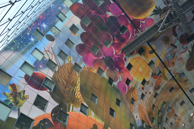 Markthal Rotterdam painted ceiling