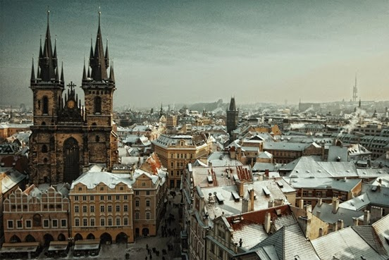 With its snow-capped spires, cobblestone streets, and the romantic hue of its gas-lit street lamps, Prague is right out of a fairytale. - European Cities to Visit During the Winter