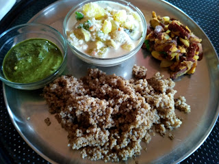 Kodo millet rice, Ash gourd coconut mor kuzhambu, Jack fruit seeds masala