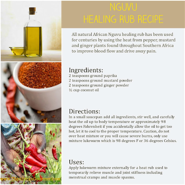All Natural Nguvu Healing Rub Recipe