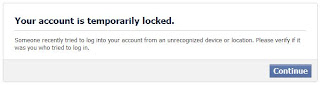 facebook account security lock