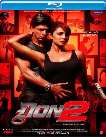 Poster Of Don 2 2011 Hindi 400MB BRRip 480p Free Download Watch Online