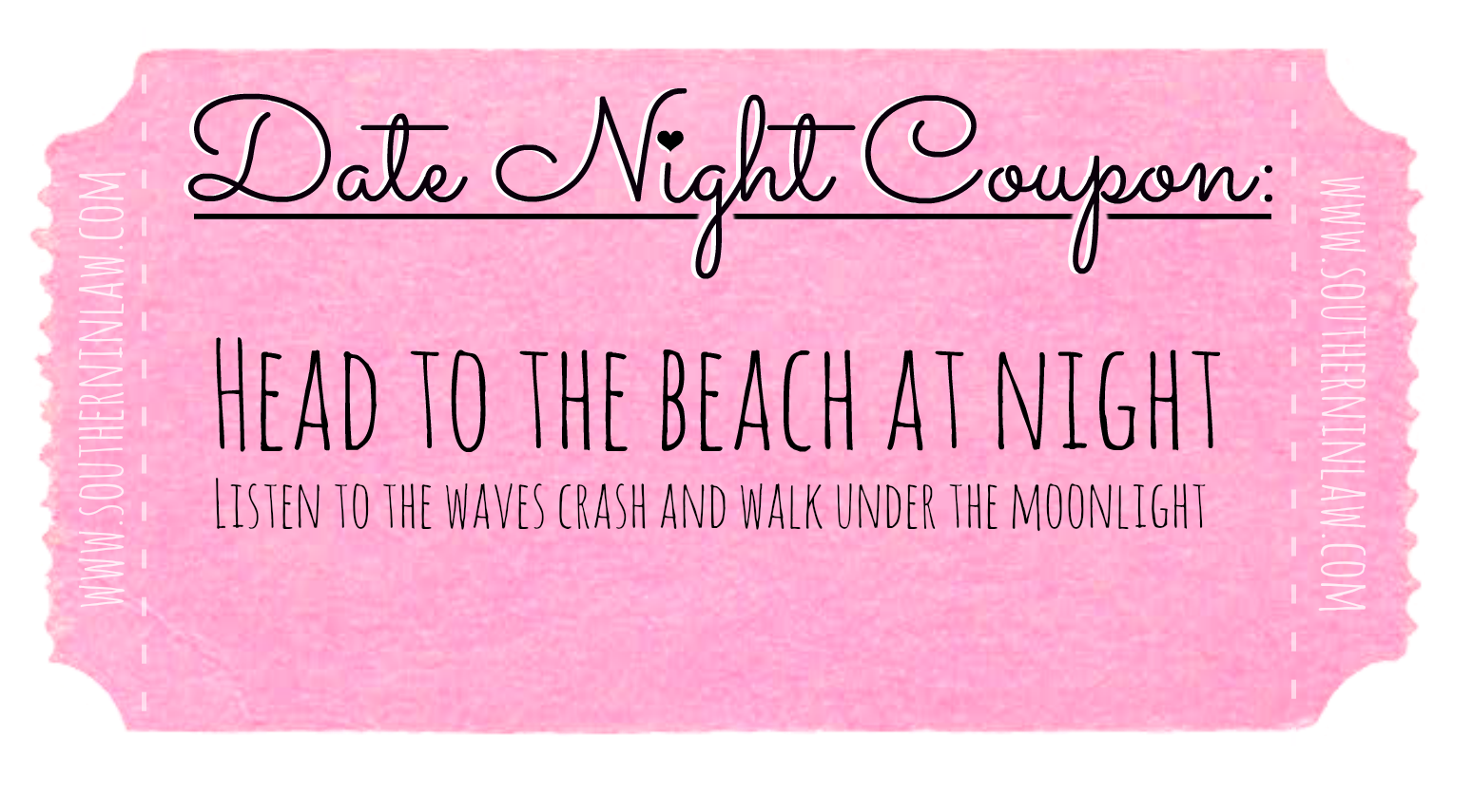 Affordable Date Ideas - Cheap Date Ideas Coupons - Head to the Beach at Night
