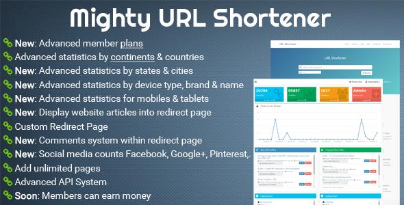 CodeCanyon - Mighty URL Shortener v1.0.1 - URL Short Script