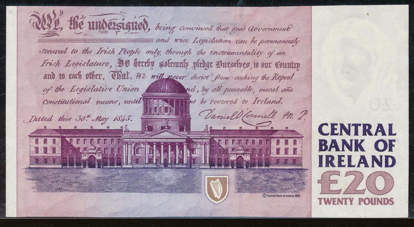 Ireland 20 Pounds banknote