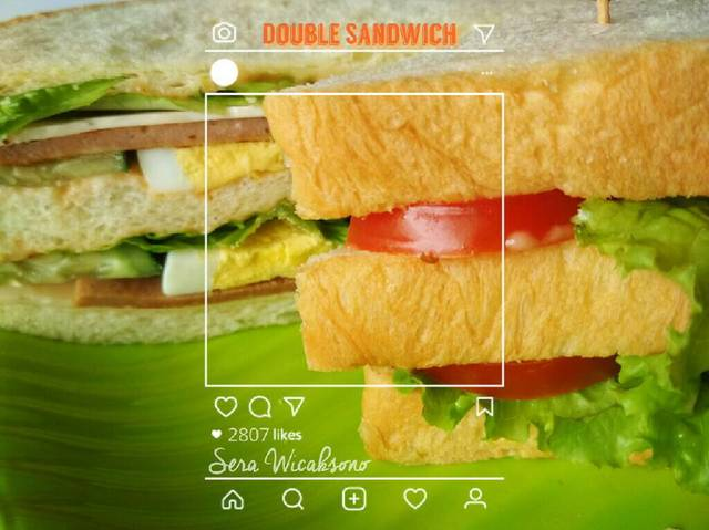 Menu sahur paling simple - sandwich