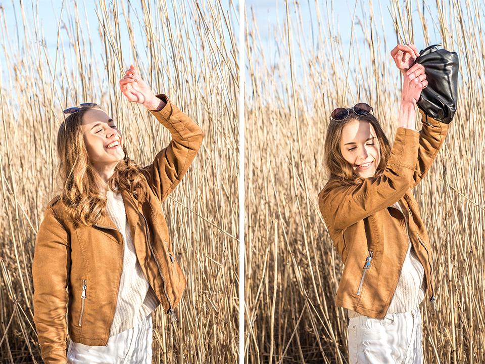 Fashion blogger spring outfit, neutral tones - Muotibloggaaja, kevätmuoti, neutraalit värit