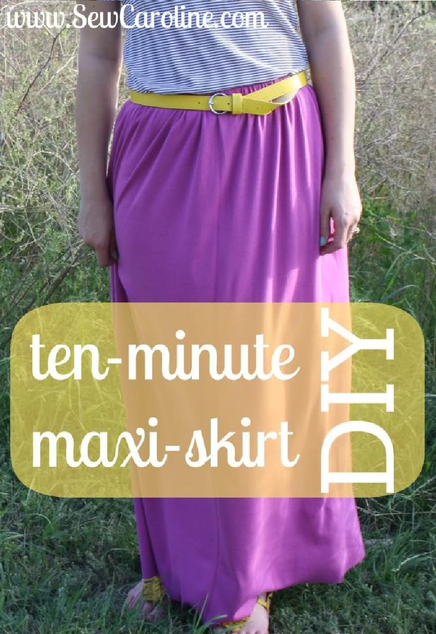 πως να φτιαξετε μια μαξι φούστα σε 10 λεπτα