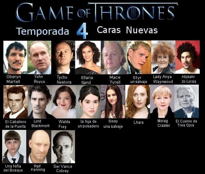 Ver cuarta temporada de Game of Thrones