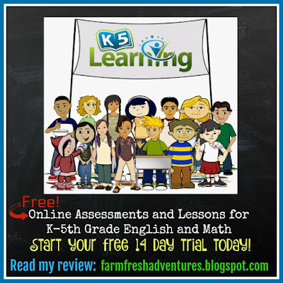 K5 Learning Online Program: Assessment and Lessons for English and Math {Review}
