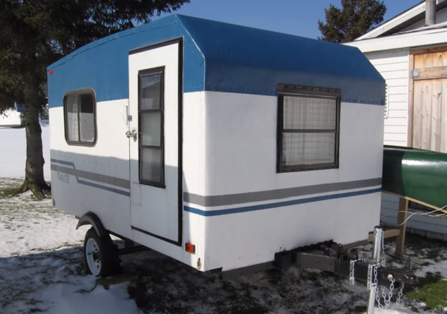 Tiny House Plans Do It Yourself: Tiny Yellow Teardrop: Do It Yourself RV