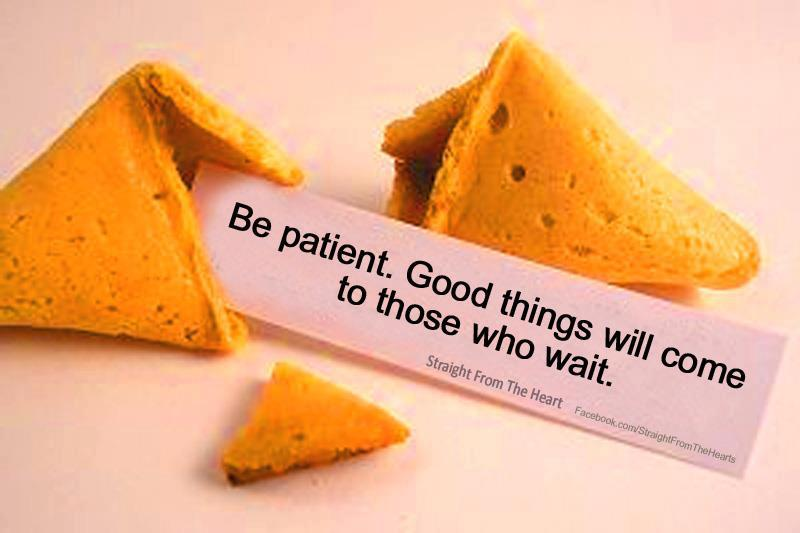 Image result for it's all about being patient