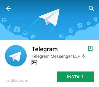 Tombol install - Cara Download Install & Daftar Telegram Untuk Android