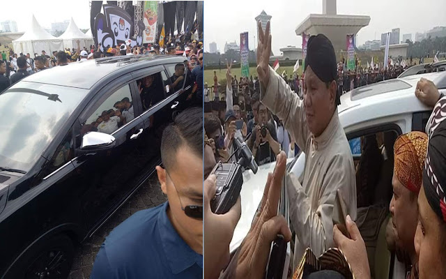 Gaya Prabowo Subianto Dan Pak Jokowi Melayani Pendukung Selepas Waktu Deklarasi Damai Di Monas