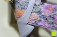 Bänder: Alexis Leroy Blockabsatz Blume gedruckt Damen Offene Sandalen mit Keilabsatz