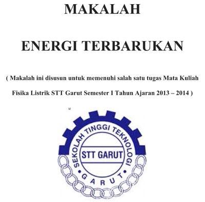 Contoh Makalah Energi Terbarukan